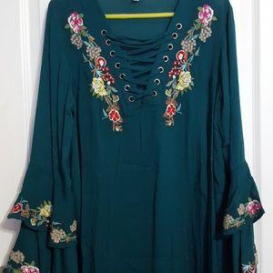 Teal Umgee Dress